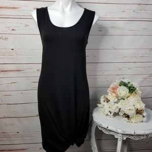 Maurices 24/7 Black Front Knotted Tank Dress Large